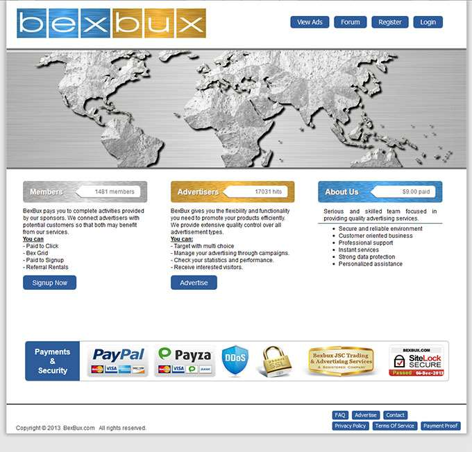 BexBux.com Website Design
