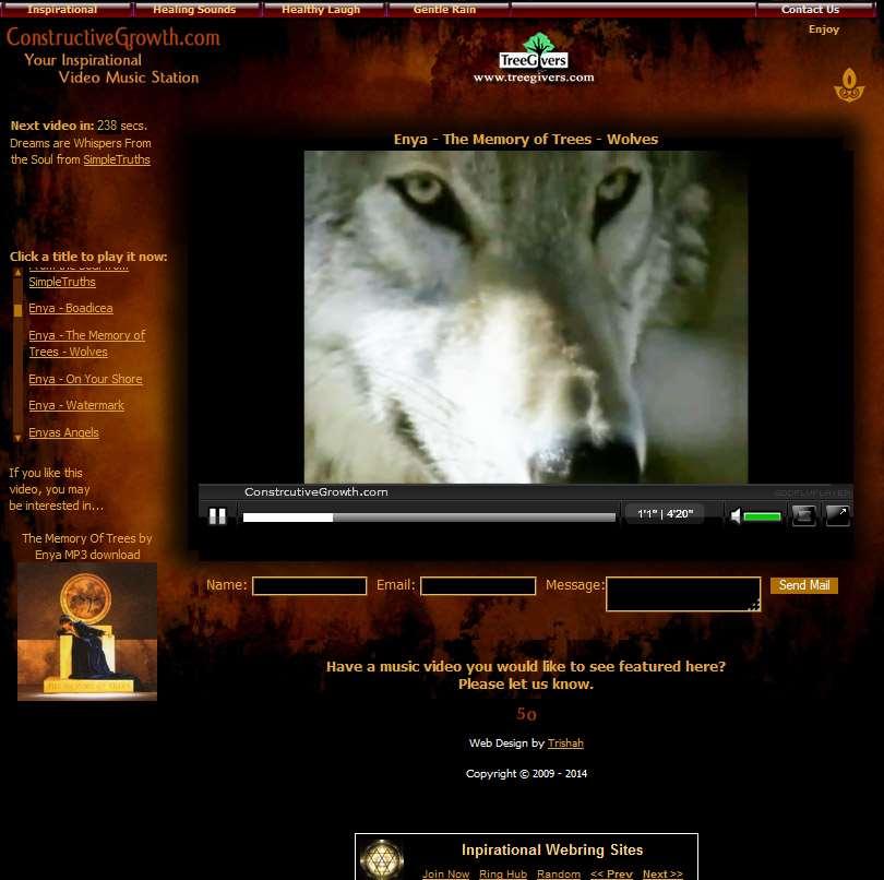 ConstructiveGrowth.com Video Music Channels Design