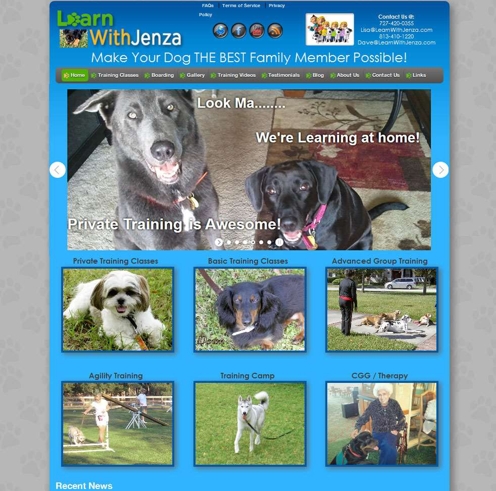 LearnWithJenza.com Website Design