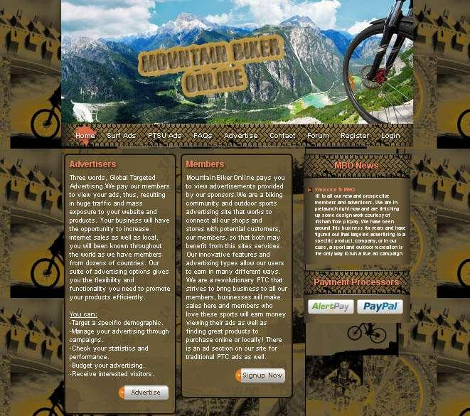 MountainBikerOnline.com Website Design