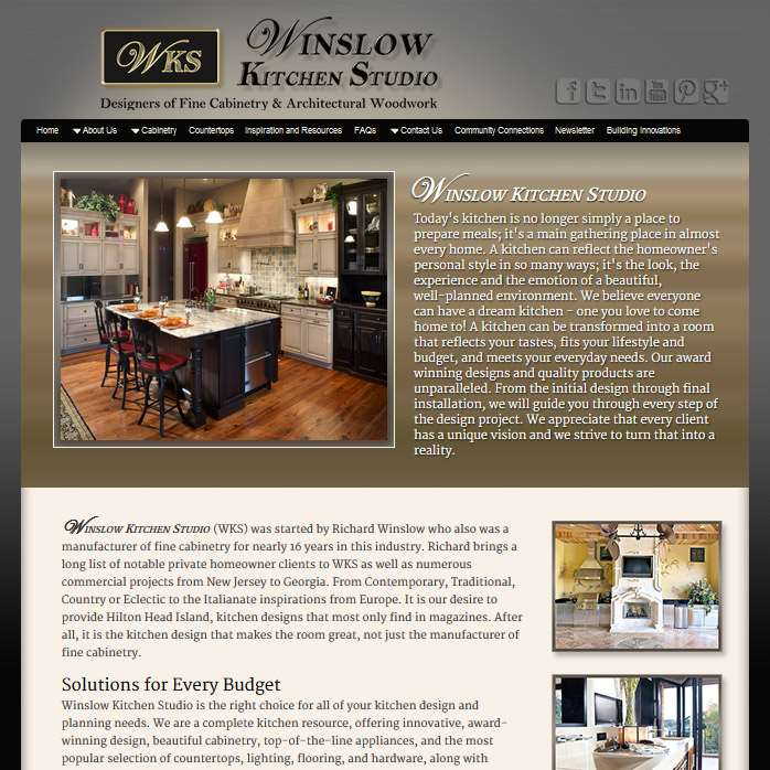 WinslowKitchenStudio.com Website Design