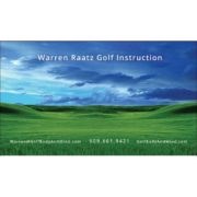 Business Card for Golf Professional