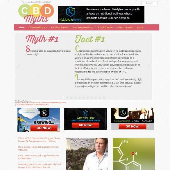 CBDMyths.com Website Design