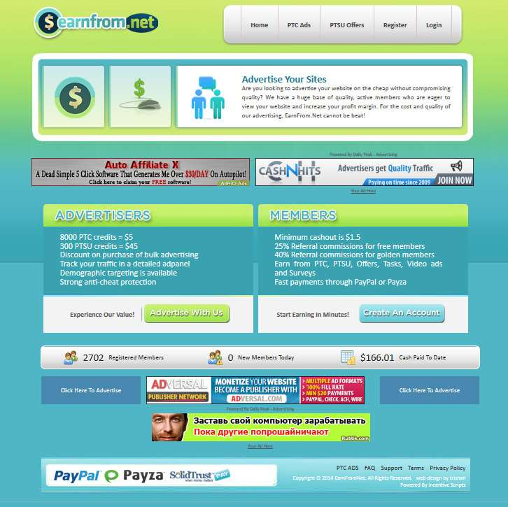 Earn From PTC Site Design