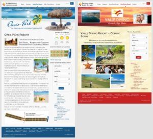 Oasis Park Resort & Valle Devino Resort Mini-Sites