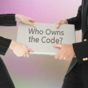 Who owns the rights to custom code or software?