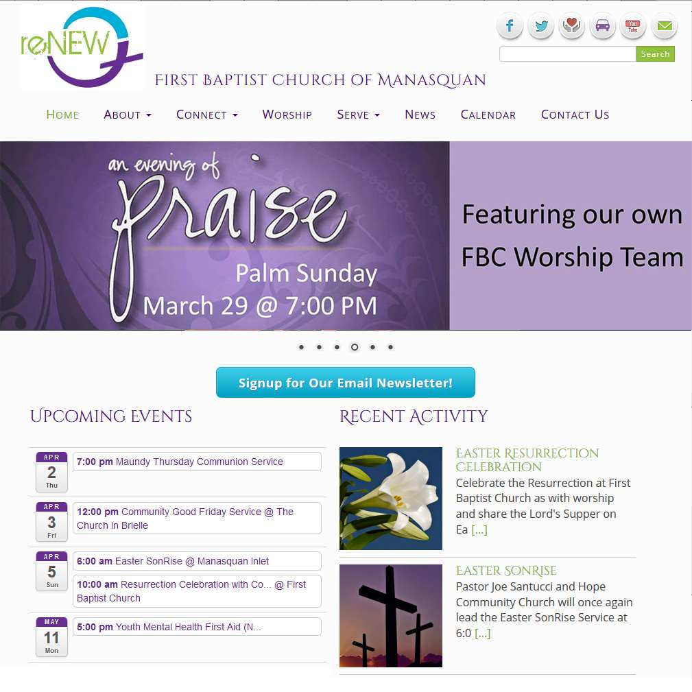 New Website for First Baptist Church of Manasquan
