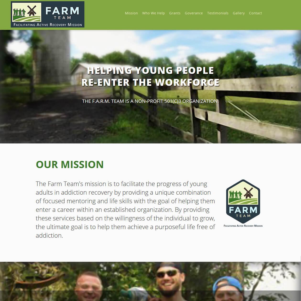 The F.A.R.M. Team Website